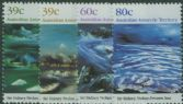 AAT SG84-7 Antarctic Landscape Paintings by Sir Sydney Nolan set of 4